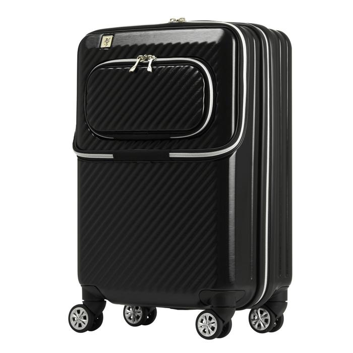 【直送便】【送料無料!】LEGEND WALKER 6024-48 34L ブラック|レジェンドウォーカー スーツケース 旅行 かわいい 軽量 機内持ち込み サイズ 1泊-3泊