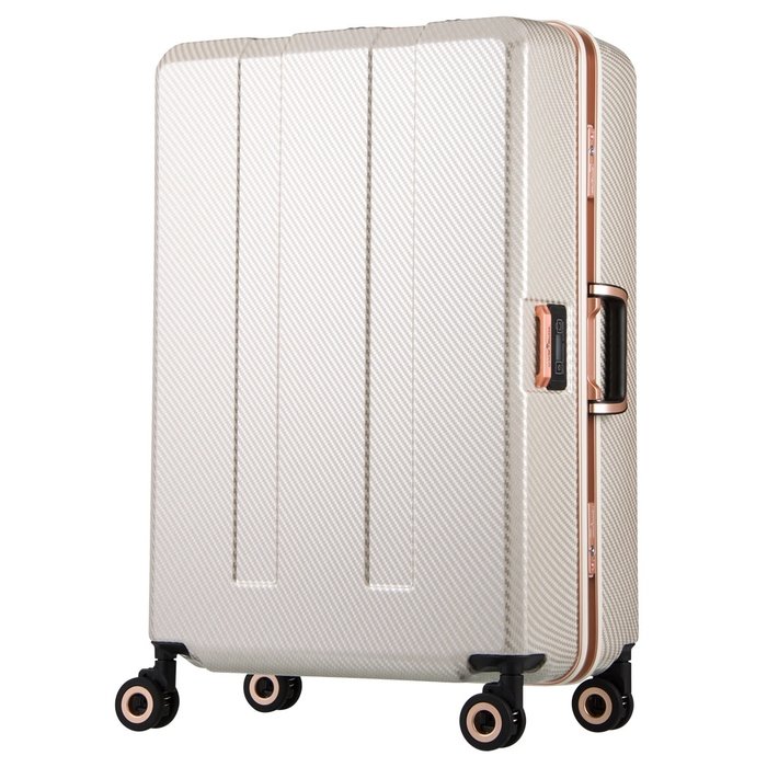 【直送便】【送料無料!】LEGEND WALKER PREMIUM TRAVEL METER 6703N-64 75L ベージュカーボン レジェンドウォーカー スーツケース 旅行 かわいい 軽量 機内持ち込み サイズ 4泊-7泊
