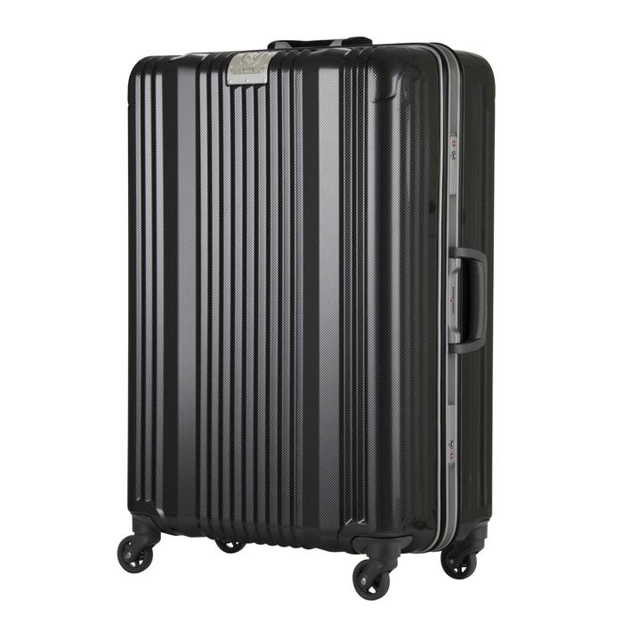 【直送便】【送料無料!】LEGEND WALKER 6026-64 71L カーボン|レジェンドウォーカー スーツケース 旅行 かわいい 軽量 機内持ち込み サイズ 4泊-7泊