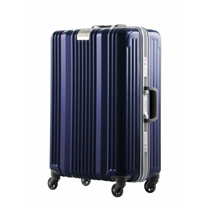 【直送便】【送料無料!】LEGEND WALKER 6026-64 71L ネイビー|レジェンドウォーカー スーツケース 旅行 かわいい 軽量 機内持ち込み サイズ 4泊-7泊