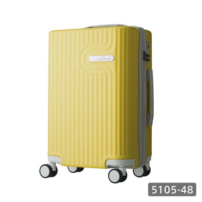 【直送便】【送料無料!】LEGEND WALKER WORLD MELODY LYRA 5105-48 35L イエロー|レジェンドウォーカー スーツケース 旅行 かわいい 軽量 機内持ち込み サイズ 1泊-3泊