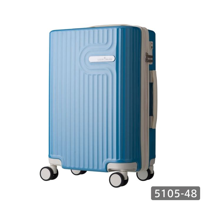 【直送便】【送料無料!】LEGEND WALKER WORLD MELODY LYRA 5105-48 35L ブルー|レジェンドウォーカー スーツケース 旅行 かわいい 軽量 機内持ち込み サイズ 1泊-3泊