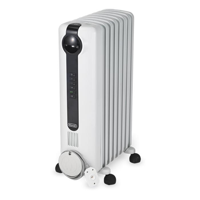 送料無料 デロンギ JRE0812 ピュアホワイト+ブラック オイルヒーター 8~10畳用 DeLonghi 暖房器具 省エネ エコ