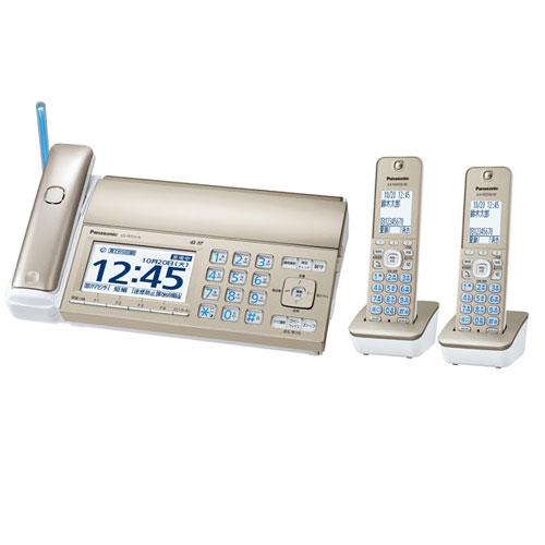お取り寄せ【送料無料】 パナソニック KX-PD725DW-N デジタルコードレス普通紙ファクス(子機2台付き) シャンパンゴールド Panasonic