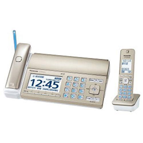 【送料無料】 パナソニック KX-PD725DL-N デジタルコードレス普通紙ファクス(子機1台付き) シャンパンゴールド Panasonic|電話 安心 使いやすい 見やすい 普通紙 FAX あんしん 簡単 迷惑電話防止