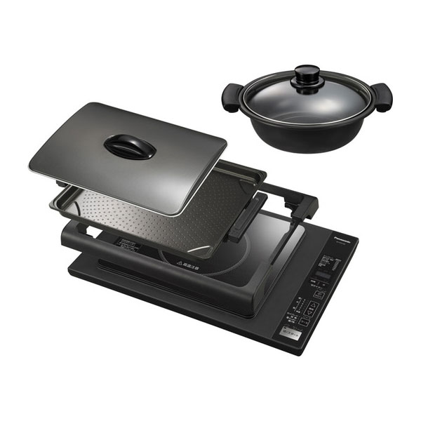 送料無料 パナソニック KZ-HP2100-K ブラック IHホットプレート Panasonic KZHP2100 卓上IH調理器|卓上IHクッキングヒーター