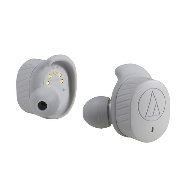 【レターパックプラス発送・送料無料】オーディオテクニカ ATH-SPORT7TW GY ワイヤレスヘッドホン グレー (audio-technica)|高音質 ブルートゥース Bluetooth 防水 ヘッドフォン