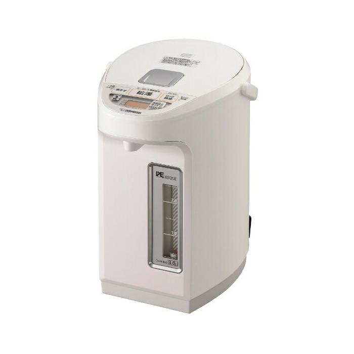 送料無料 象印 CV-WB30-WA ホワイト マイコン沸とうVE電気まほうびん 優湯生 ZOJIRUSHI CVWB30 電気ポット 3L