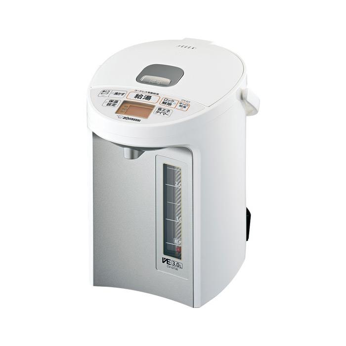 送料無料 象印 CV-GT30-WA ホワイト マイコン沸とう VE電気まほうびん ZOJIRUSHI CVGT30 優湯生 電気ポット 3L|電気魔法瓶 湯沸かし器 保温付き 電気保温ポット