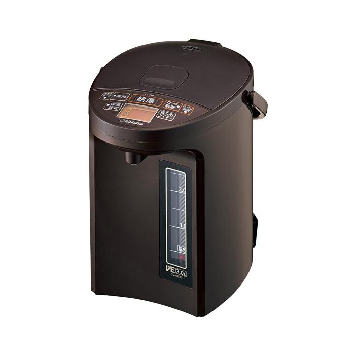 送料無料 象印 CV-GB30-TA ブラウン マイコン沸とう VE電気まほうびん ZOJIRUSHI CVGB30 優湯生 電気ポット 3L|電気魔法瓶 湯沸かし器 保温付き 電気保温ポット