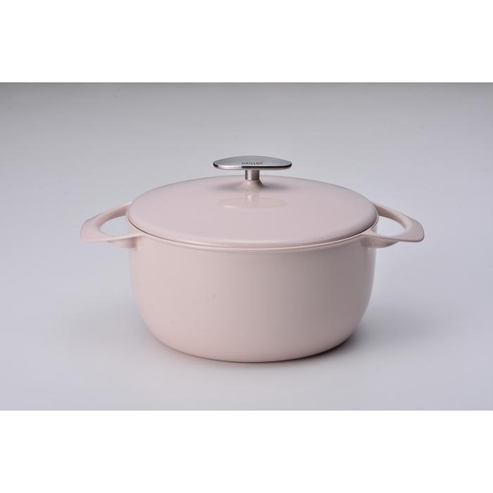 UNILLOY/ユニロイ キャセロール 22cm Sakura/サクラ EC-2200S 鋳物ホーロー鍋
