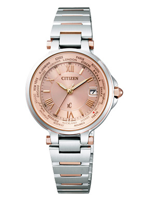 【送料無料】シチズン EC1014-65W レディース腕時計 エコ・ドライブ電波腕時計 クロスシー ハッピーフライト