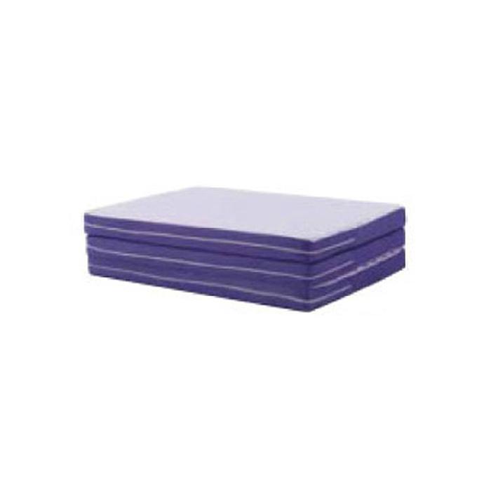 France Bed(フランスベッド)三つ折りマットレス スリープファイン シングルサイズ 幅97X長さ195X厚み8cm リバーシブル|エアースルーXフラット リバーシブル 両面使用 体圧分散 通気性 高反発ウレタン 寝返り ニット メッシュ 生地 持ち運び