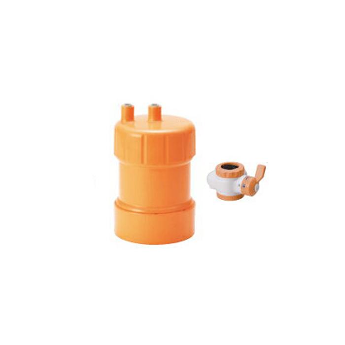 【送料無料】KITZ PF-O4(オレンジ)カートリッジ浄水器(蛇口直結+据置型)ピュリフリー【キッツマイクロフィルター Purifree PFO4】