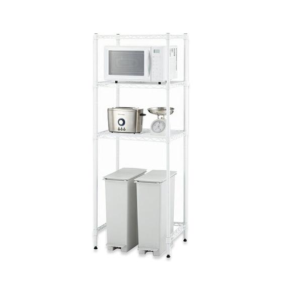 【直送便】【送料無料】ホームエレクター キッチンラック HKR-02(ホワイト・W600xD450xH1595・1セット)