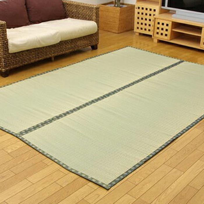 純国産 い草 上敷きござ 松 江戸間6畳(約261×352cm)双目織り カーペット Made in Japan