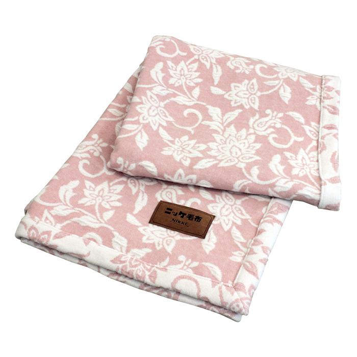 【送料無料!】日本製 ニッケ ふわっふわボリュームウール毛布 WLWL60012 シングルサイズ 140x200cm ピンク