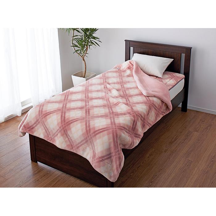 【送料無料!】日本製 ニッケ アクリル 合わせマイヤー毛布 NK830111 シングルサイズ140x200cm ピンク