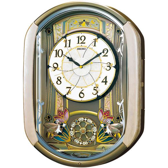 【送料無料】セイコー RE567G 電波掛時計【アナログ 正時からくり&メロディ SEIKO】