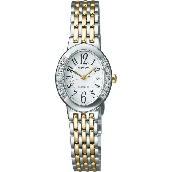 【送料無料】セイコー SWCQ051 ソーラー腕時計 レディース エクセリーヌ【SEIKO EXCELINE 腕時計】