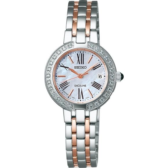 【送料無料】セイコー SWCW008 ソーラー電波腕時計 レディース エクセリーヌ【SEIKO EXCELINE 腕時計】