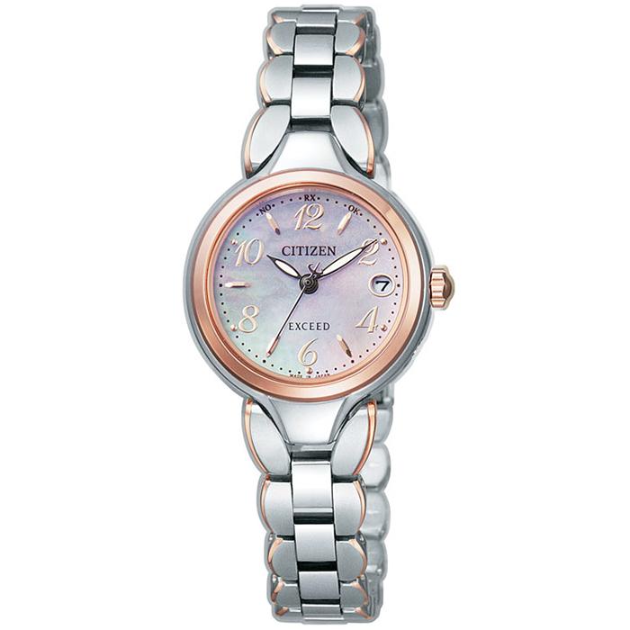 【送料無料】シチズン ES8044-53W レディース腕時計 エクシード【CITIZEN エクシード ES8044-53W エコドライブ電波時計 】