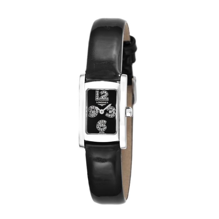 【送料無料!】ロンジン L5.158.4.58.2 レディース腕時計 ドルチェビータ LONGINES ブラック 女性 クオーツ 電池 エナメルレザー ギフト プレゼント