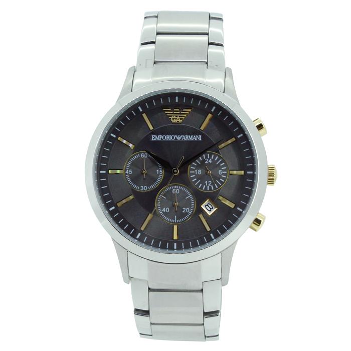 【送料無料!】エンポリオ・アルマーニ AR11047 メンズ腕時計 レナート|EMPORIO ARMANI 男性 RENATO グレー シルバー おしゃれ かっこいい 5気圧防水