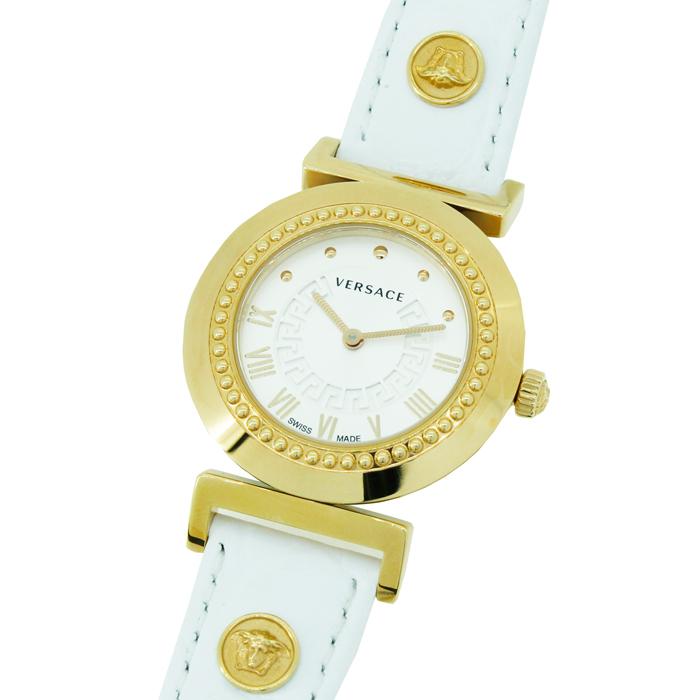 【送料無料!】ヴェルサーチ P5Q80D001S001 レディース腕時計 ヴァニティー? ヴェルサーチェ Versace Vanity 女性 白 ホワイト 金 ゴールド おしゃれ かわいい 3気圧防水