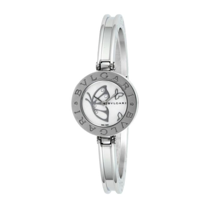【送料無料!】ブルガリ BZ22BDSS.S レディース腕時計 ビーゼロワン|BVLGARI シルバー ホワイト 白 女性 クオーツ 電池 バタフライ ギフト プレゼント