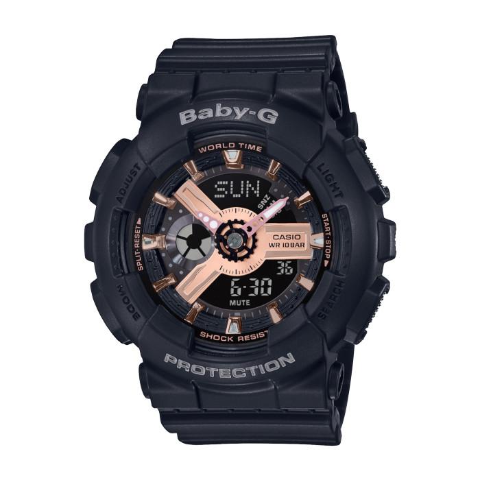 【送料無料!】カシオ BA-110RG-1AJF レディース腕時計 BABY-G|CASIO ベビーG 女性 耐衝撃構造 10気圧防水