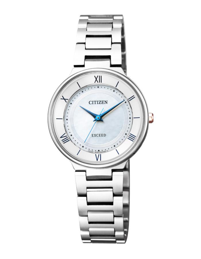 【送料無料!】シチズン EX2090-57A レディース腕時計 エクシード|CITIZEN EXCEED 女性 エコ ドライブ サファイアガラス 白蝶貝文字板 5気圧防水