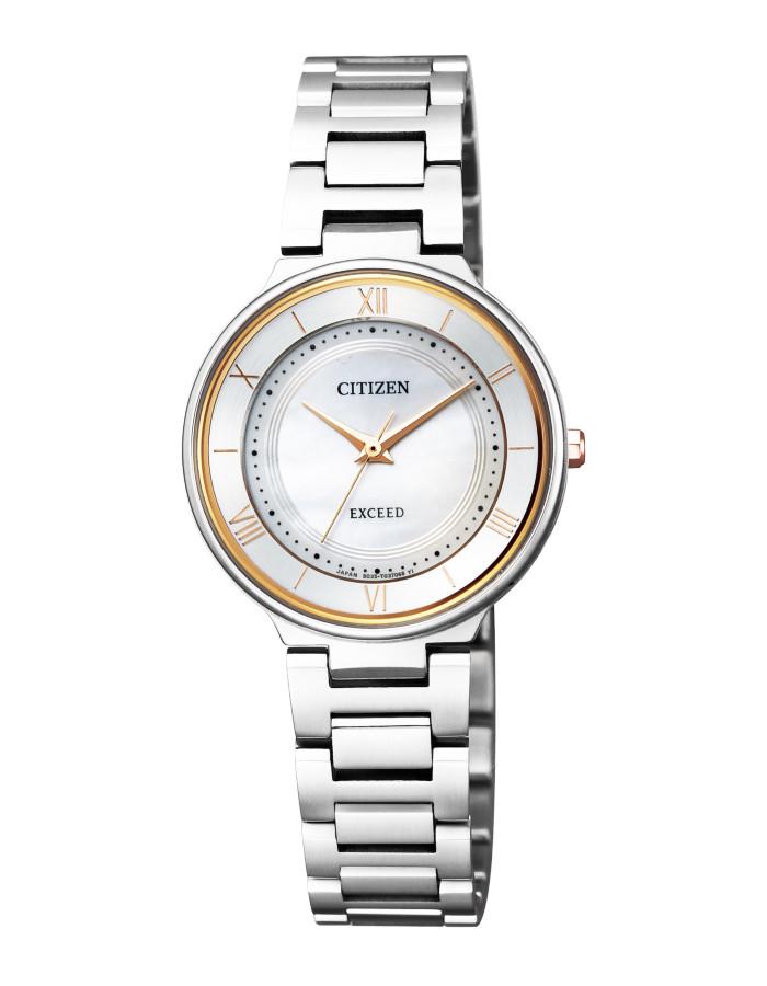 【送料無料!】シチズン EX2090-57P レディース腕時計 エクシード CITIZEN EXCEED 女性 エコ ドライブ サファイアガラス 白蝶貝文字板 5気圧防水