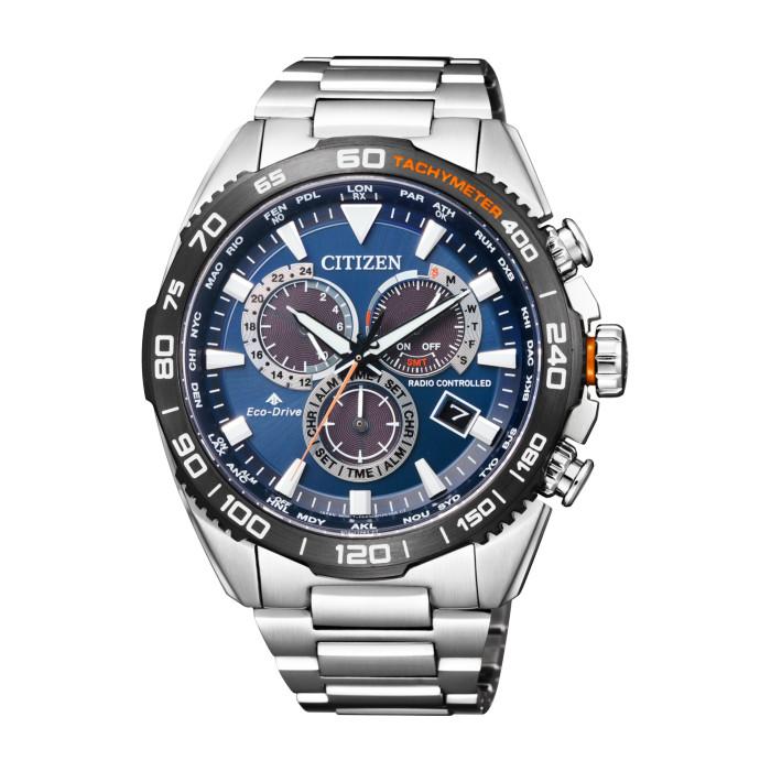 【送料無料!】シチズン CB5034-82L メンズ腕時計 プロマスター|CITIZEN PROMASTER 男性 防水性が高い スポーティー ブルー エコドライブ電波時計 ダイレクトフライト LANDシリーズ F150 20気圧防水