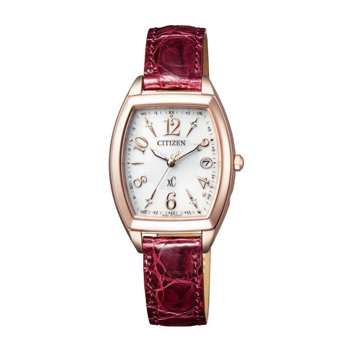 【送料無料!】シチズン ES9394-56A レディース腕時計 クロスシー|CITIZEN xC 女性 おしゃれ かわいい サクラピンクプチ エコドライブ ハッピーフライト 5気圧防水 クロコ革