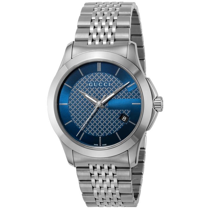 【送料無料!】グッチ YA126481 メンズ腕時計 Gタイムレス