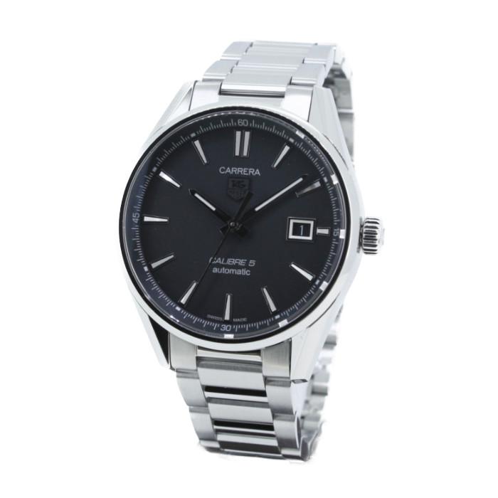 【送料無料!】タグホイヤー WAR211A.BA0782 メンズ腕時計 カレラ キャリバー5|TAG HEUER Carrera Calibre 男性 シースルーバック シルバー ブラック