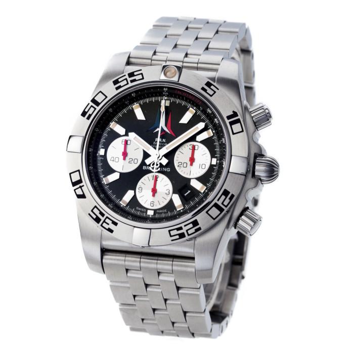 【ヤマト便】【送料無料!】ブライトリング AB01104DBC62 メンズ腕時計 クロノマット 44 フレッチェ トリコローリ