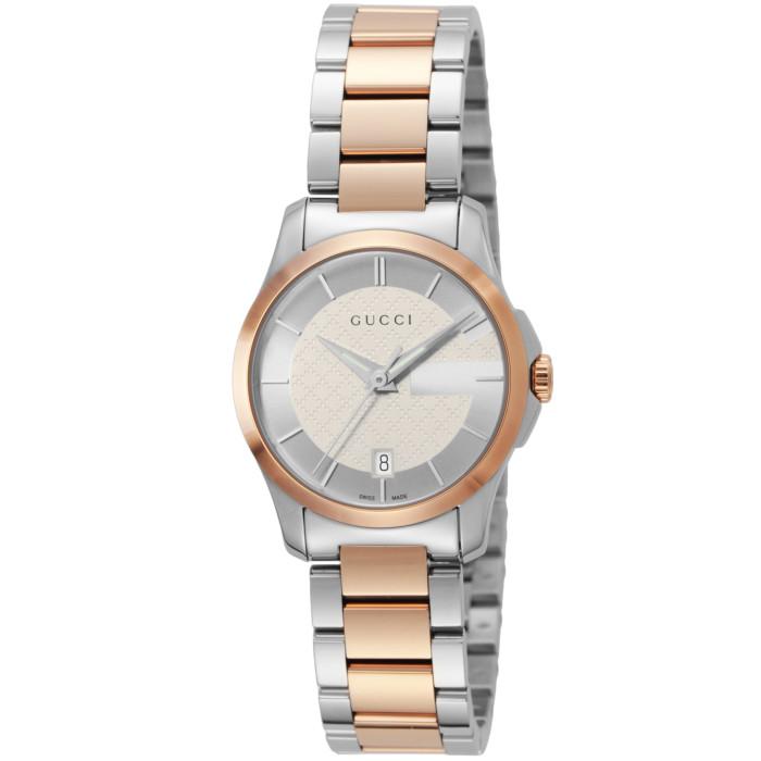【送料無料!】グッチ YA126528 レディース腕時計 Gタイムレス