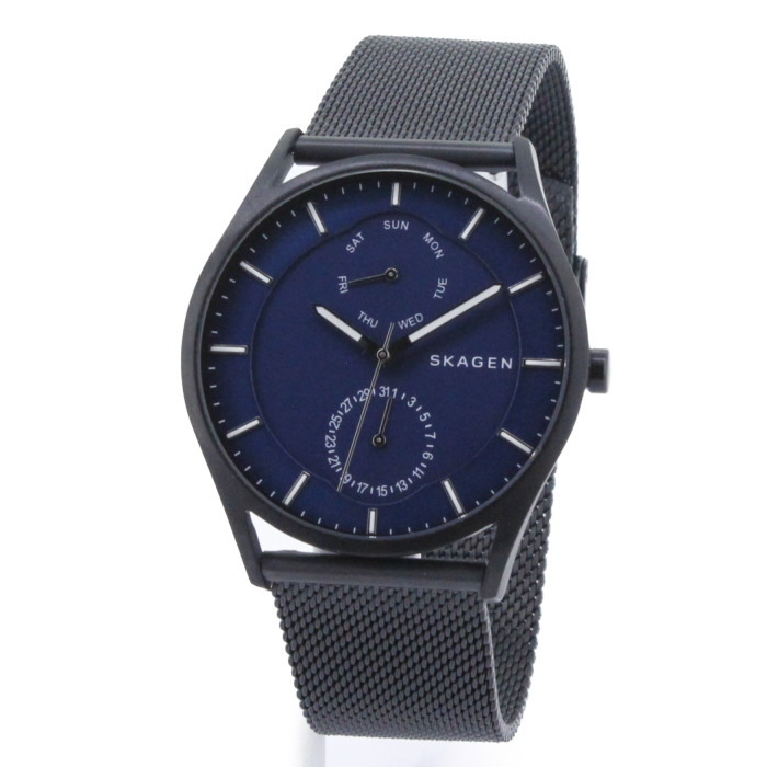 【送料無料!】スカーゲン SKW6450 メンズ腕時計 ホルスト|SKAGEN HOLST 男性 ブラック ブルー おしゃれ プレゼント ギフト