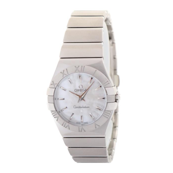 【送料無料!】オメガ 123.10.27.60.05.001 レディース腕時計 コンステレーション クォーツ OMLOPD