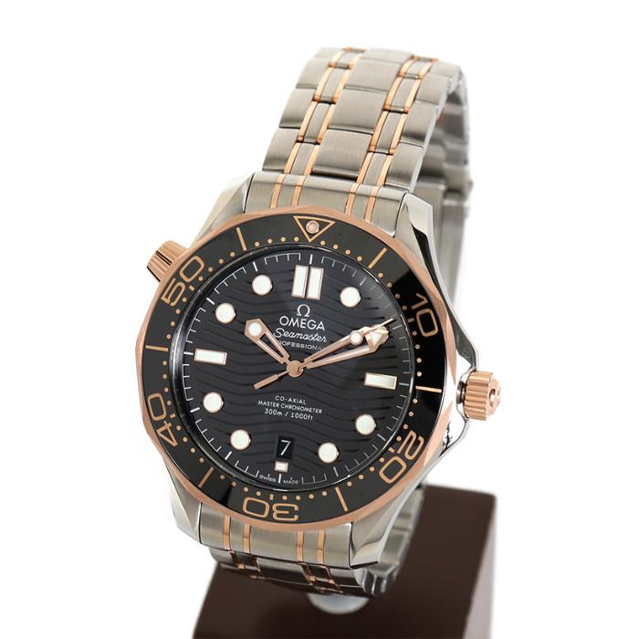 【ヤマト便】【送料無料!】オメガ 210.20.42.20.01.001 メンズ腕時計 シーマスター ダイバー300M|OMEGA Seamaster Diver 300M 男性 おしゃれ カレンダー シルバー ゴールド ブラック