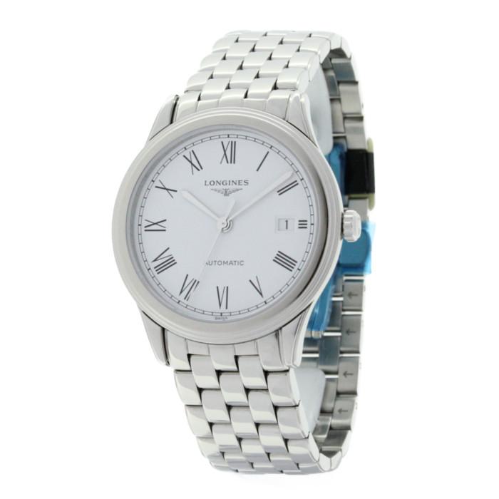 【送料無料!】ロンジン L4.974.4.11.6 メンズ腕時計 フラッグシップ|LONGINES Flagship 男性 おしゃれ かっこいい シルバー ホワイト OMLOPD