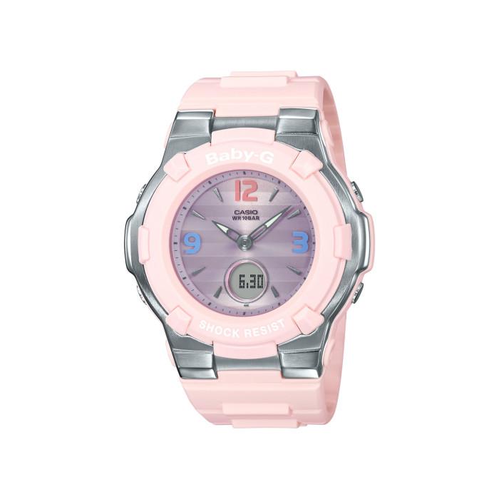 【送料無料!】カシオ BGA-1100TR-4BJF レディース腕時計 ベビーG|CASIO BABY-G 女性 ファッション かわいい パステルトリコロール レトロ ボーダー 夏 パステルピンク パステルブルー