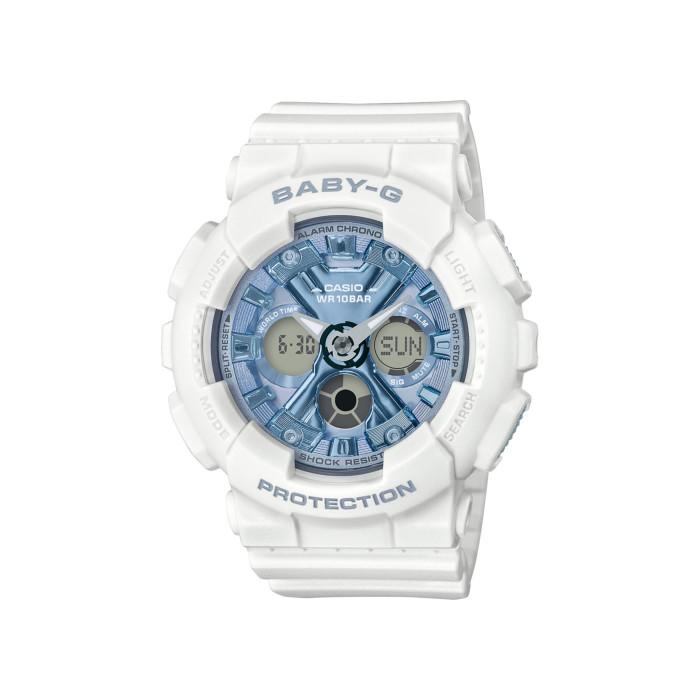 【送料無料!】カシオ BA-130-7A2JF レディース腕時計 ベビーG|CASIO BABY-G カジュアル ストリート ビッグケース ワントーン マット シンプル クール ブルー ホワイト 女性