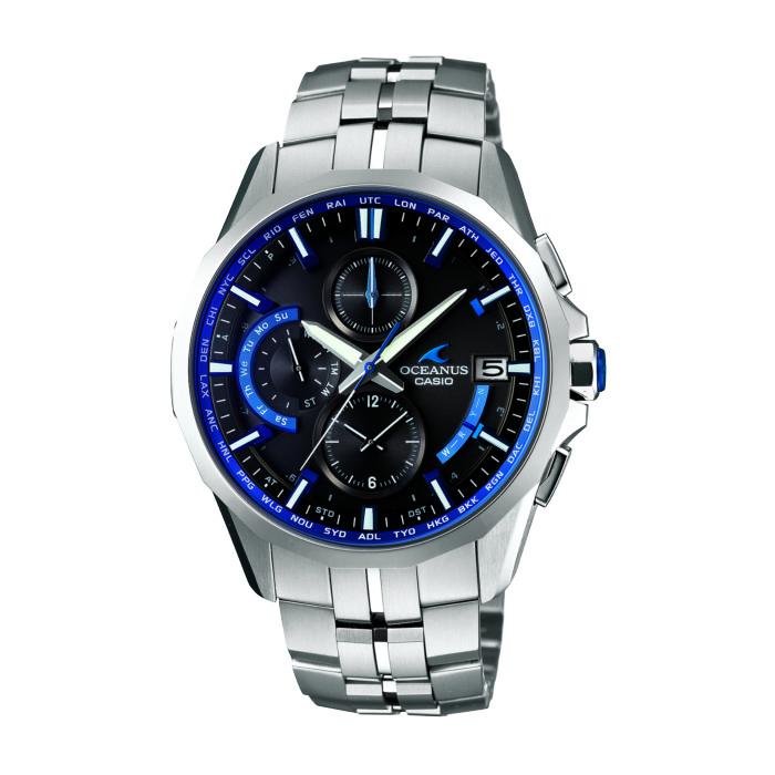 【送料無料!】カシオ OCW-S3000-1AJF メンズ腕時計 オシアナス|CASIO OCEANUS Manta オシアナスマンタ オシアナスブルー 美しい ワイドフェイス 男性 シルバー ブルー BLUE