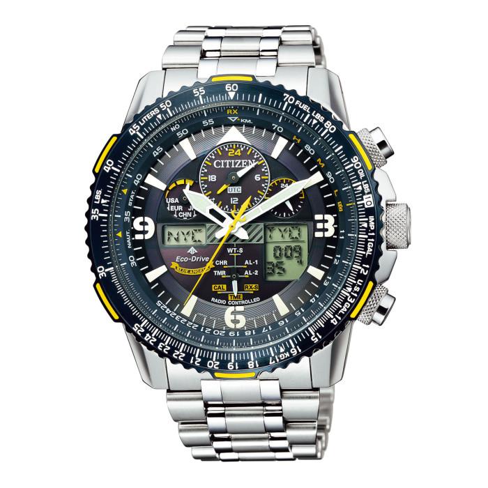 【送料無料!】シチズン JY8078-52L メンズ腕時計 プロマスター CITIZEN PROMASTER SKY 男性 人気 ギフト プレゼント ブルーエンジェルス アメリカ 海軍 アクロバットチーム ネイビー シルバー イエロー