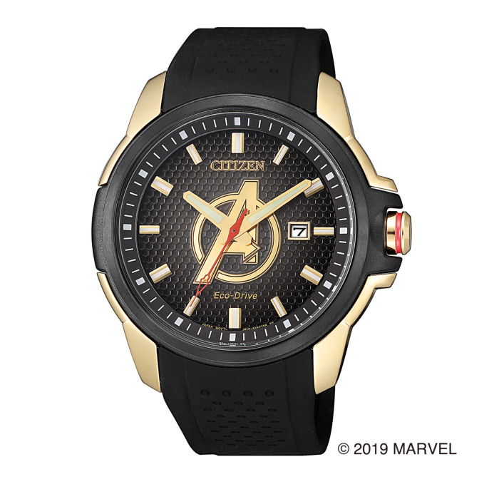 【送料無料!】シチズン AW1155-03W メンズ腕時計 マーベルコラボ|CITIZEN MARVEL SPECIAL MODEL 男性 人気 プレゼント ギフト チーム アベンジャーズ ブラック ゴールド レッド