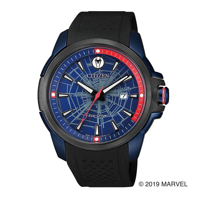 【送料無料!】シチズン AW1156-01W メンズ腕時計 マーベルコラボ|CITIZEN MARVEL SPECIAL MODEL 男性 人気 プレゼント ギフト スパイダーマン パワースーツ ブルー レッド ブラック