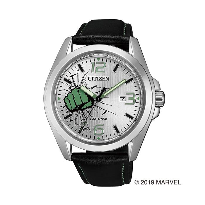【送料無料!】シチズン AW1431-24W メンズ腕時計 マーベルコラボ|CITIZEN MARVEL SPECIAL MODEL 男性 人気 プレゼント ギフト 緑 怪力超人 ハルク シルバー ブラック グリーン